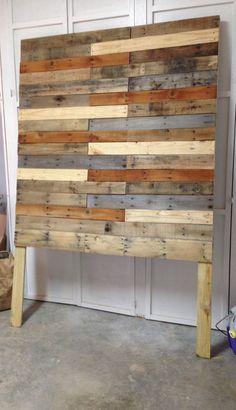 Made my pallet board head board finally! So proud! #palletboard #headboard #wood #diy #queenheadboard