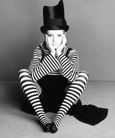 Twiggy photographed by Steven Meisel in Vogue Italia April 1993