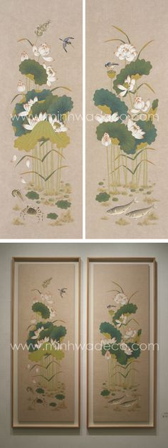 Gayatri Devi, Silk Painting, Chinoiserie, Lotus, Vintage World Maps, Lotus Flower, Lily