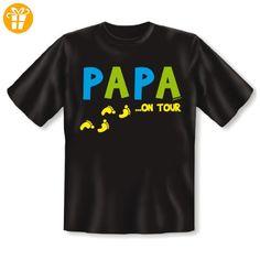 Vatertag T-Shirt Papa on Tour - Geburtstag Geschenk Sprüche Shirt Weihnachten Gr: 5XL Farbe: schwarz - Shirts zum 50 geburtstag (*Partner-Link)