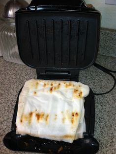 How to clean your George Foreman (or any other indoor grill). My cute friend Suzanne gave me this tip. While the grill is still warm, place several layers of wet paper towels on the grill--make sure there is plenty of thickness.  Close the grill and leave for 30 min-1 hr.  Remove and just wipe clean. Makes using them so much more pleasant. I used to think they were horrid to clean!!  I am going to try this...ld
