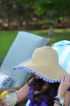 Ideias para Decorar Chapéus de Praia Gastando Pouco 23676f1c2ed