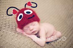 Love Bug Valentines Day Photo Prop Newborn Hat by BumbleBeeKnees
