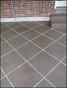 DIY Saturday Painted Concrete Patio Concrete slab Concrete and Nest