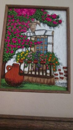 The 212 best pictures of hand-embroidered paintings in 2018 Silk Ribbon Embroidery, Embroidery Art, Embroidery Stitches, Embroidery Designs, Blackwork Embroidery, Hand Pictures, Ink Illustrations, Textile Art, Needlepoint