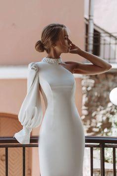 Wedding Dress Bustle, Civil Wedding Dresses, Wedding Dress Trends, Bridal Dresses, Wedding Gowns, Elegant Dresses, Sexy Dresses, Evening Dresses, Fashion Dresses