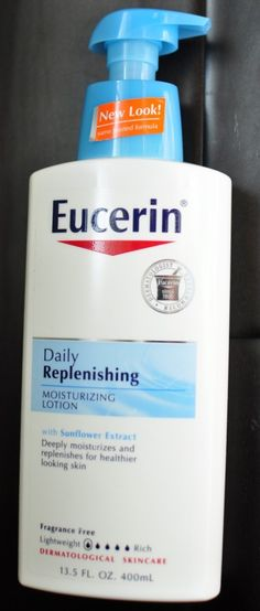 Awesome contest alert - 4 bottles of Eucerin Daily Replenishing Moisturizing Lotion up for grabs!