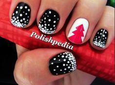 Beautiful nail art for Christmas holidays