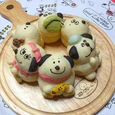 スヌーピーと兄弟たちの3Dちぎりパン(ベル、スヌーピー、オラフ)