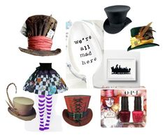 """We're all mad here"" by sugarloaf626 ❤ liked on Polyvore featuring art"