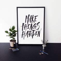 MAKE THINGS HAPPEN 50X70CM via CPH LETTERS. Click on the image to see more!