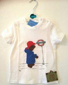 T-shirt #paddingtonbear dipinta a mano con inserti in pannolenci cuciti a mano