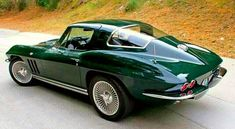 I have wanted a goodwood green vette preferably with the light saddle interior for years. I have a 2017 love it but Im getting old.Would Love to have one for a couple of years and pass it on to my nephew. Old Corvette, 1965 Corvette, Corvette Summer, Classic Corvette, Chevrolet Corvette, Pontiac Gto, Sweet Cars, Us Cars, Unique Cars