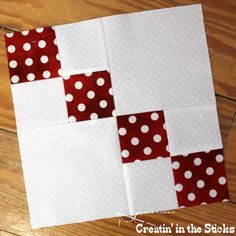 Block 16 is either an ascending group of squares or adescending group of squares. It's all in how you place the finished block. ...