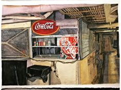 USS Salem Snack Bar 20150602 Uss Salem, Snack Bar, Watercolor Paintings, Fine Art, Artwork, Sandwich Bar, Work Of Art, Watercolors, Watercolour Paintings