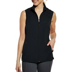 Speed up your success with the CALIA™ by Carrie Underwood Women's Running Vest. Made with lightweight fabric and a sleeveless cut, this vest offers strategic breathability and a full range of motion. A cinchable hem creates a secure fit, while a stand collar blocks out harsh elements. Zip pockets store your small items, and reflective details make you easier to see. Cross the finish line and meet your goals in the CALIA™ Running Vest.