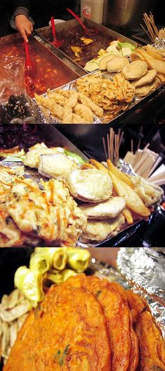 Street food, Korea.  My sister and I loved finding new street foods to try.