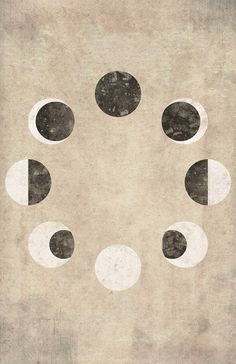 Print Of The Moon Phases