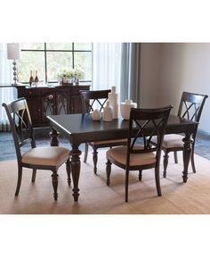 Bradford Dining Room Furniture, 5 Piece Set (Round Table And 4 Side Chairs)    Furniture   Macyu0027s | Beautiful Home | Pinterest | Side Chair, Rounding  And ...