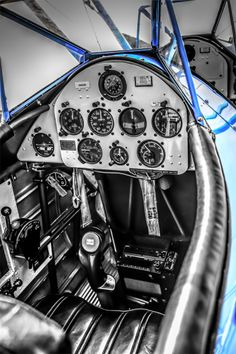 PT17 Stearman cockpit from my B/W Art Sale collection...Visit www.csfoto.biz and go to my store page for more