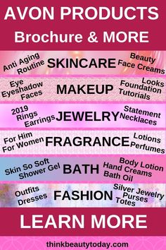 Check out the NEW Avon Products for 2019. Shop online for exclusive free product offers, free shipping and discounts. See the latest amazing deals on skincare, makeup, jewelry, fragrance, bath and body, and fashion. Click to view the current Avon Brochure online at my website. #avon #avonrep #avonskincare #avonrepresentative #avonbusiness #avonproducts