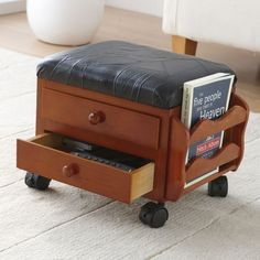 Organize Your Living Room - Get Rid of Clutter. Storage Footstool
