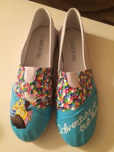 Custom Disney Pixar Up Toms-Like Canvas Shoes by SweetlyEverAfter