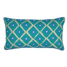 """Kosas Home Modello Turquoise 14""""x26"""" Pillow"""