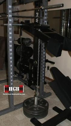 Homemade Calf Raise Machine. Attach this to any power rack.