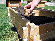 no nail planter boxes.  Sell for just under $200, but would be SO easy to build yourself.