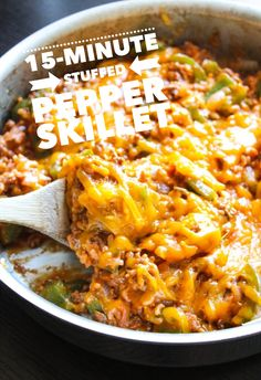 8-Ingredient Stuffed Pepper Skillet - Layers of Happiness