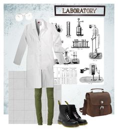 """Strange Science"" by niavmealone on Polyvore featuring Balmain, Dr. Martens, Tim Holtz, GE and Vagabond Traveler"