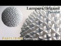 Tutorial lampara origami comecocos