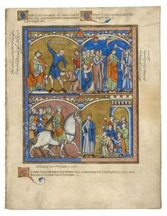 Réponse de David; David oint roi de Juda; Ishbosheth Made roi d'Israël | Fol. 36r | The Morgan Library & Museum