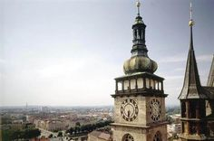 Hradec Králové from tower of Holy Spirit cathedral, East Bohemia, Czechia Heart Of Europe, Czech Republic, Holy Spirit, Prague, Big Ben, Statue Of Liberty, Countryside, Cathedral, Tower