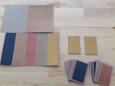 sensorial | rough and smooth tablets made with sandpaper and cardboard