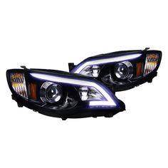 Spec-D Subaru Impreza Projector Gloss Blk W Smoke lens Headlight 2011 Subaru Wrx, Subaru Impreza, Wrx Sti, Angel Eye Headlights, Halogen Headlights, Projector Headlights, High Beam, Black Smoke, Dream Cars