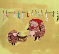 Laundry Day Print by theblackapple on Etsy