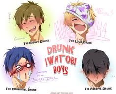 Free! ~~ These boys are under aged, but this is still funny fanart.