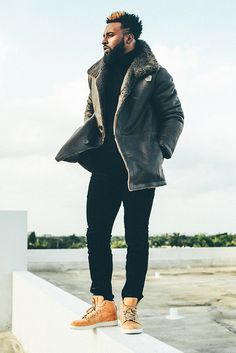 How to look fly this winter. Miami Dolphins WR Jarvis Landry in Vince.