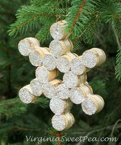 Wine Cork Snowflake by virginiasweetpea.com