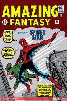 The Amazing Spider-Man & Amazing Fantasy Amazing Fantasy ( Spiderman) is a very good book for children and adults. The most interesting book created by Marvel comics.by Stan Lee & Steve Ditko 10 different Marvel Masterworks in 1 volumen Amazing Spiderman, Amazing Spider Man Comic, Stan Lee, Spiderman Comic Books, Comic Books Art, Spiderman Marvel, Spiderman Tattoo, Valuable Comic Books, Marvel Universe