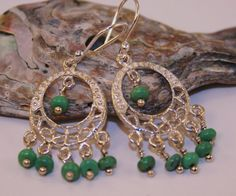 Genuine Taxco Silver Turquoise Chandelier Earrings I love all things Bohemian!!! To see my whole board please go to: http://www.pinterest.com/blkdragonflies/the-new-bohemian/ Or my store at: https://www.etsy.com/shop/BlackDragonflies3?ref=hdr_shop_menu