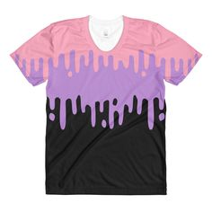 a85103aab Pastel Drips Slime Shirt This design is printed via sublimation process for  a vivid, all