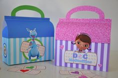 Doc McStuffins Doctor bag & Stuffy Checkup bag favor box combo for birthday party NON-PERSONALIZED pdf includes FREE Doc and heart bandages!...