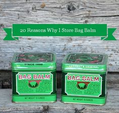 20 Reasons Why I Store Bag Balm and why you should store it in youremergency preparedness supplies. The product was first introduced in 1899 in Vermont. The formula was purchased by John L. Norris. I�