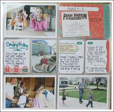 Label sticker stretched across photo + journalling card links them together.