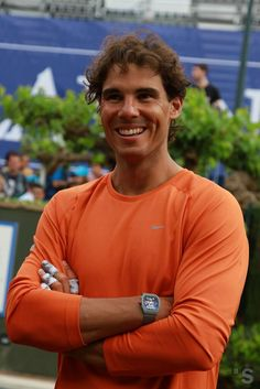 22/04 Rafael Nadal after his practice at Barcelona Open (photo:  Banco Sabadell)