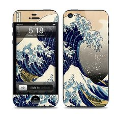 Apple iPhone 5 Skin Cover   The Great Wave Cover by skunkwraps, $9.95