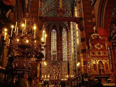 St. Mary's Basilica. Krakow, Poland